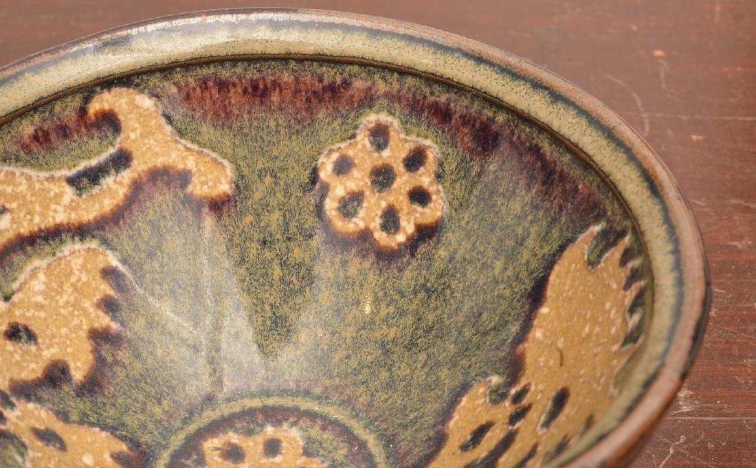 Asian hare's fur glaze tea bowl - 4
