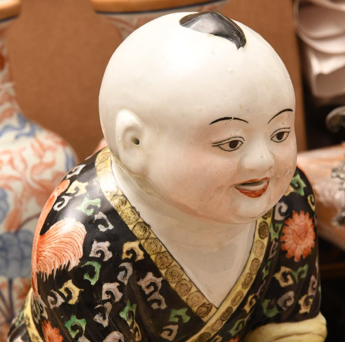 Chinese famille noir porcelain boy - 2