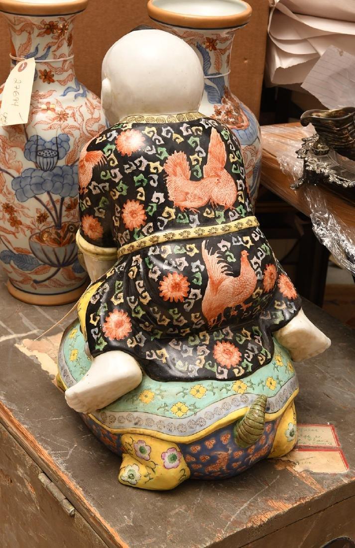 Chinese famille noir porcelain boy - 4