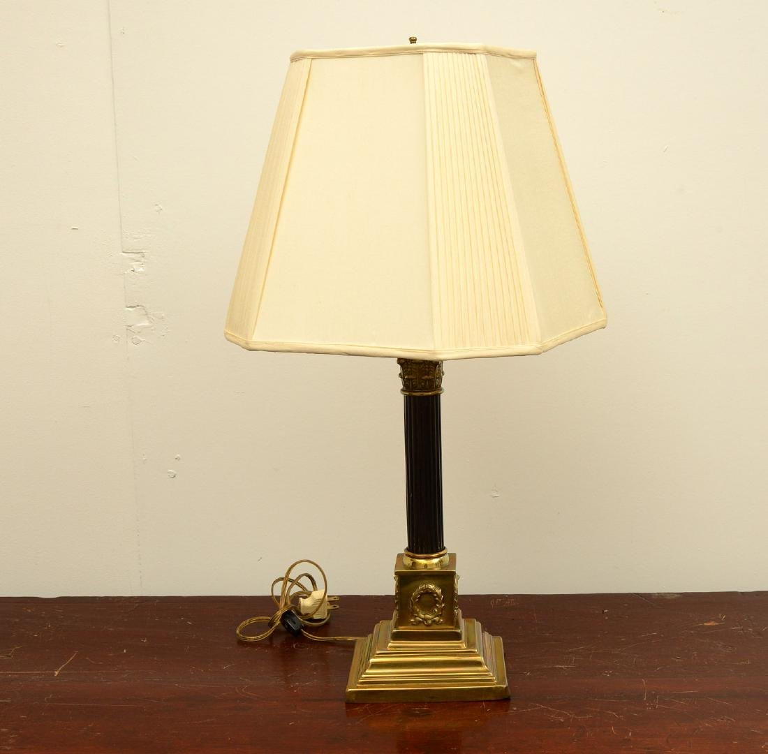 Empire style bronze table lamp
