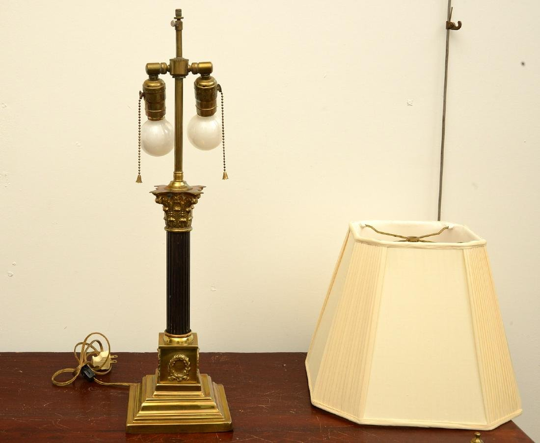 Empire style bronze table lamp - 2