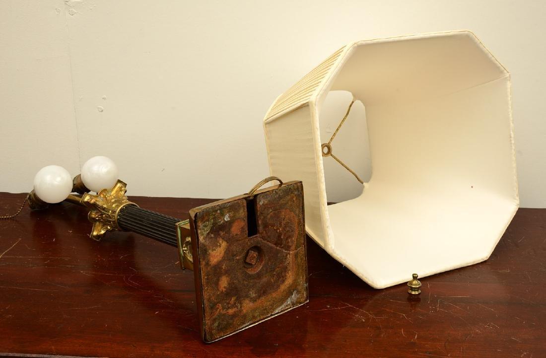 Empire style bronze table lamp - 6