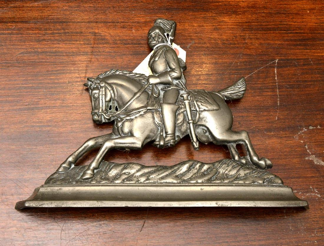 (2) Pairs horse themed pewter fire decorations - 2