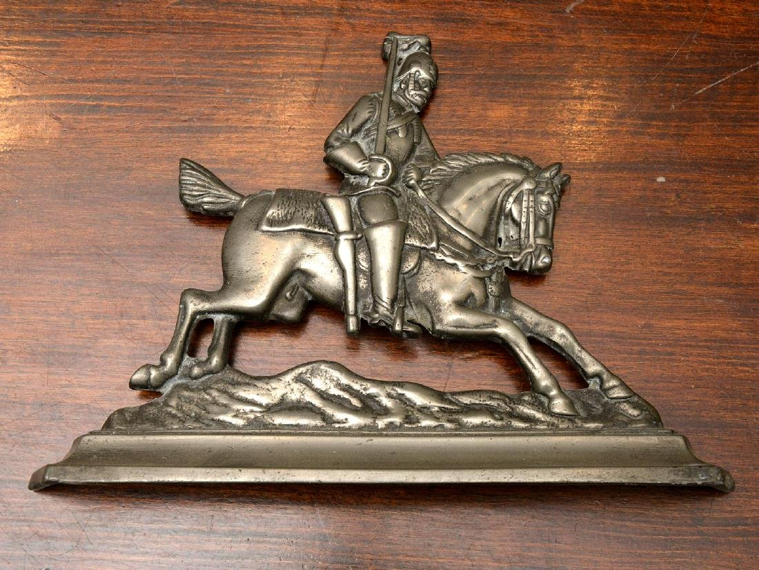 (2) Pairs horse themed pewter fire decorations - 4