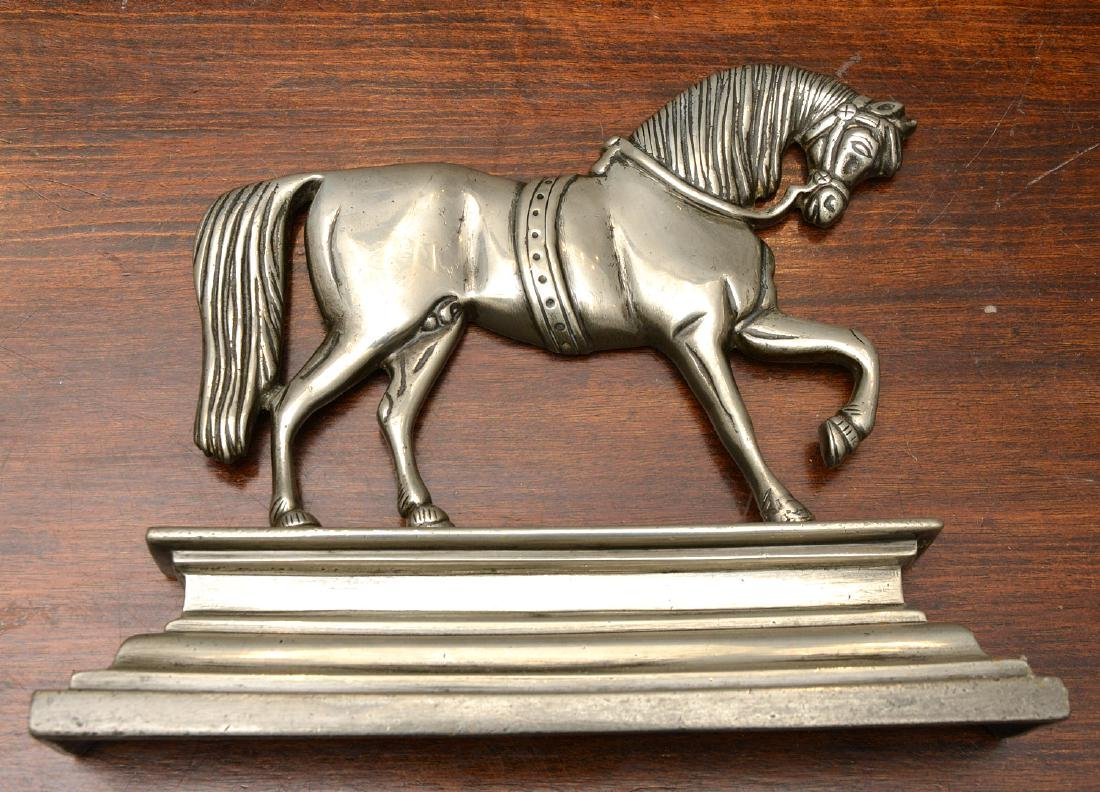 (2) Pairs horse themed pewter fire decorations - 6