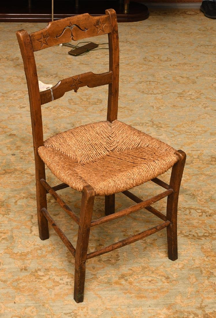 Provincial hand carved oak side chair