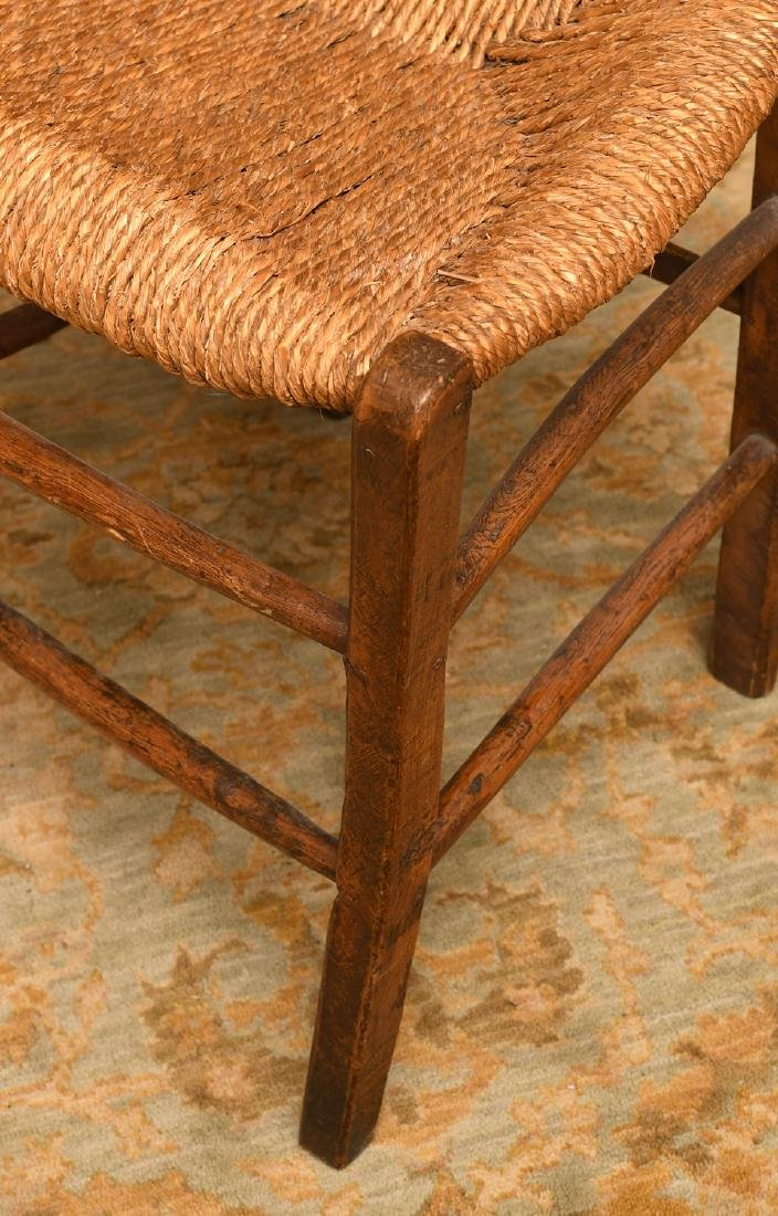Provincial hand carved oak side chair - 4