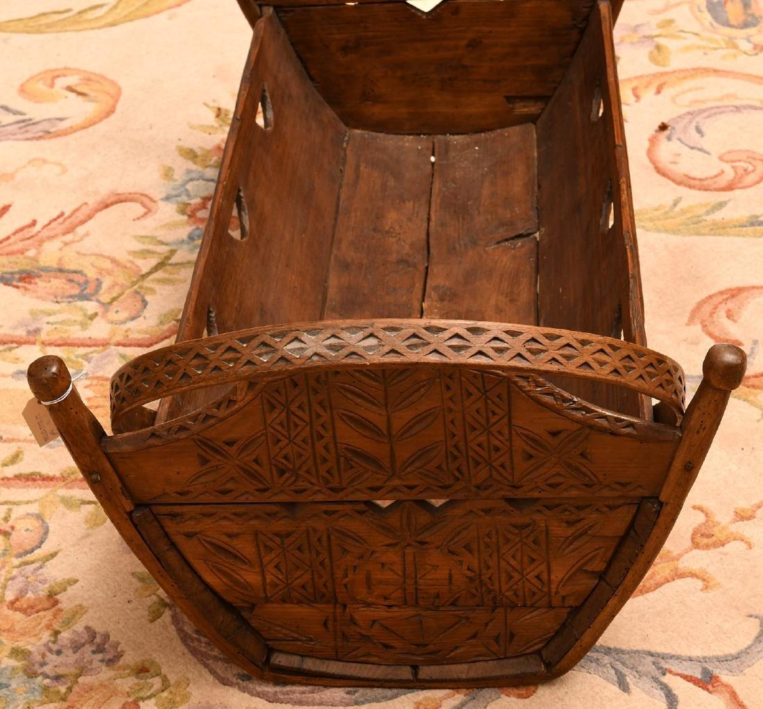 Folk Art cradle - 3