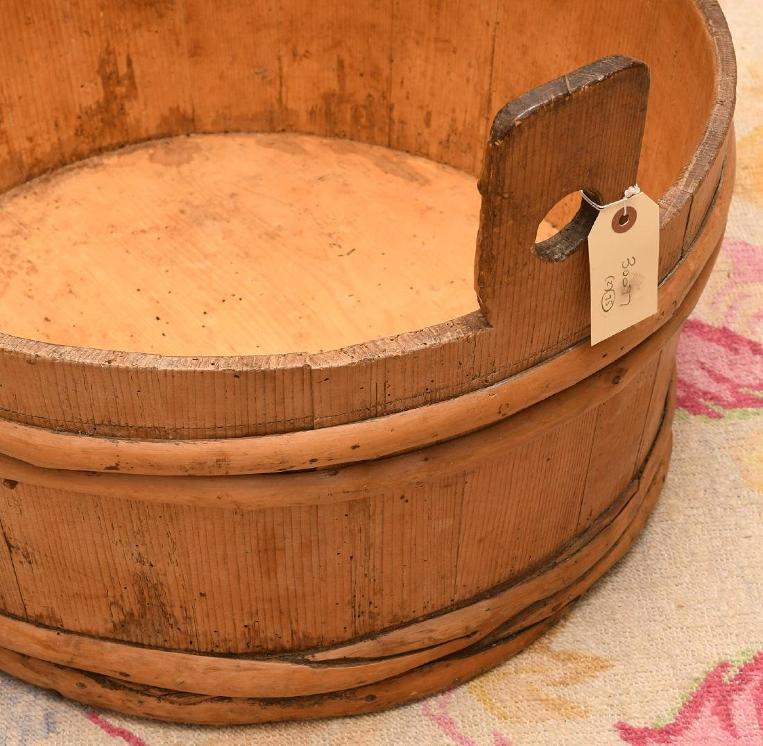 Shaker wooden wash tub with lid and drying rack - 4
