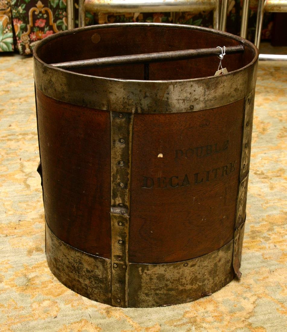 (2) French grain measuring pails - 2
