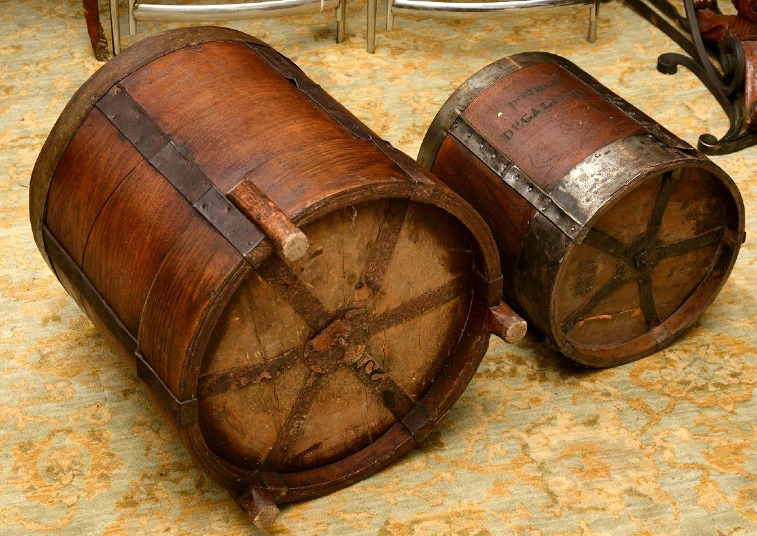 (2) French grain measuring pails - 7