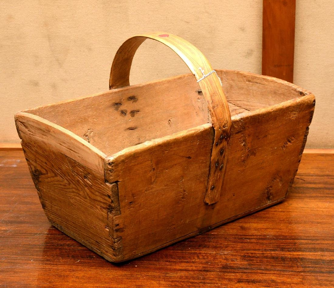 (2) Shaker carved wood carriers - 2