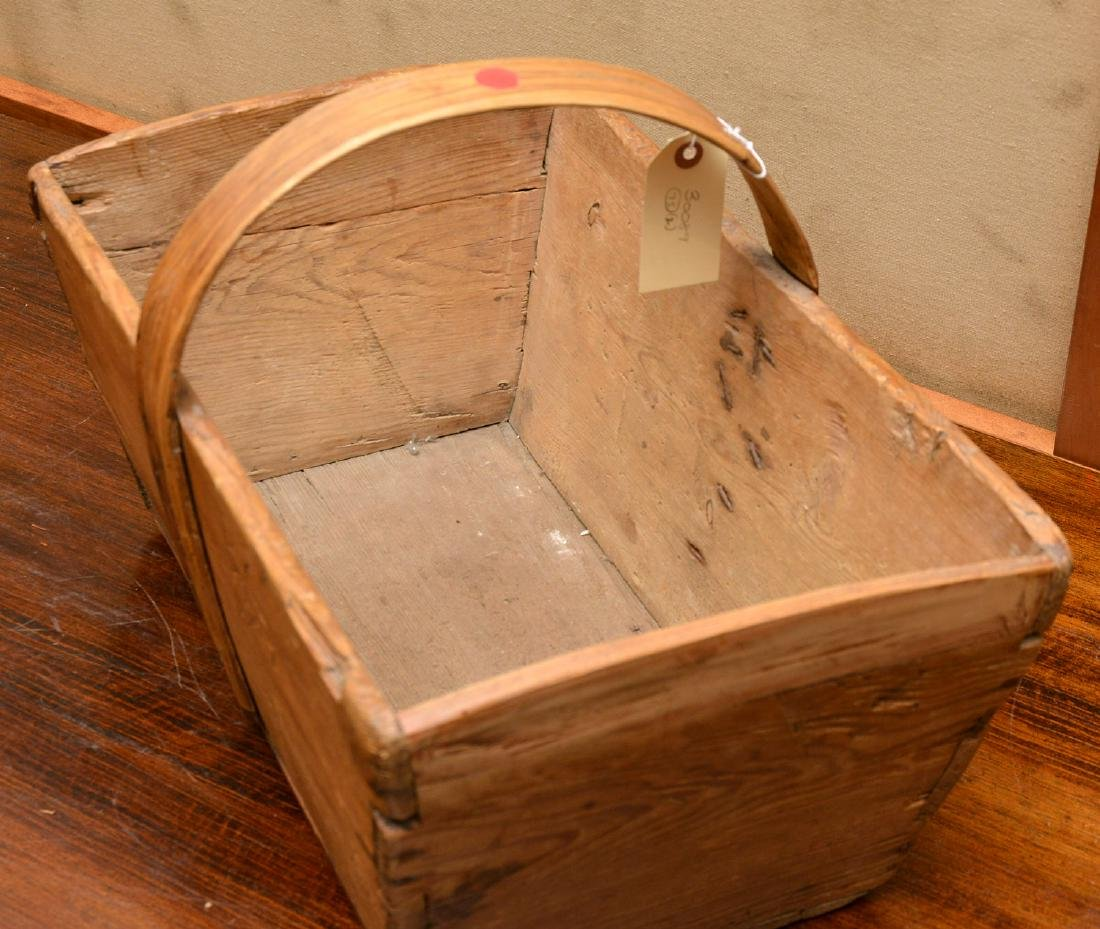 (2) Shaker carved wood carriers - 6