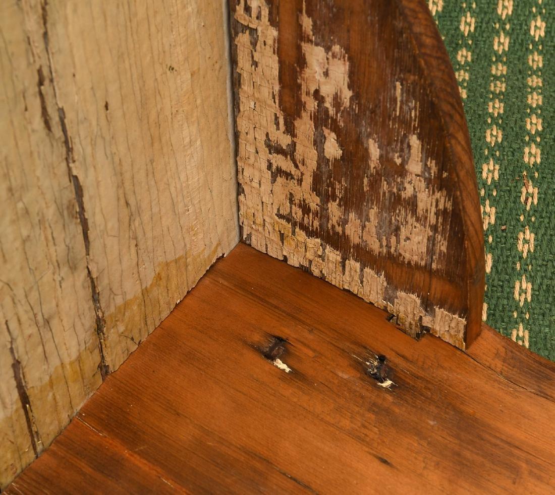 Country pine folk art bench - 10