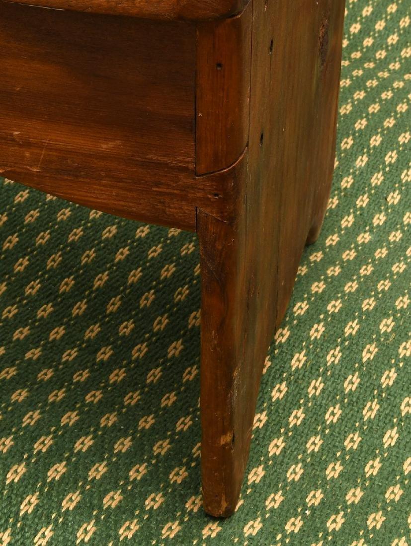 Country pine folk art bench - 4