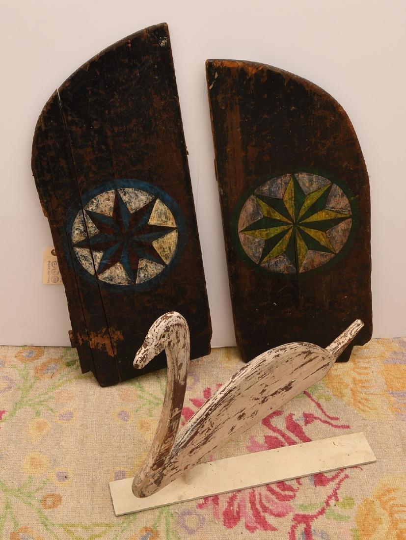 (3) Folk Art pieces