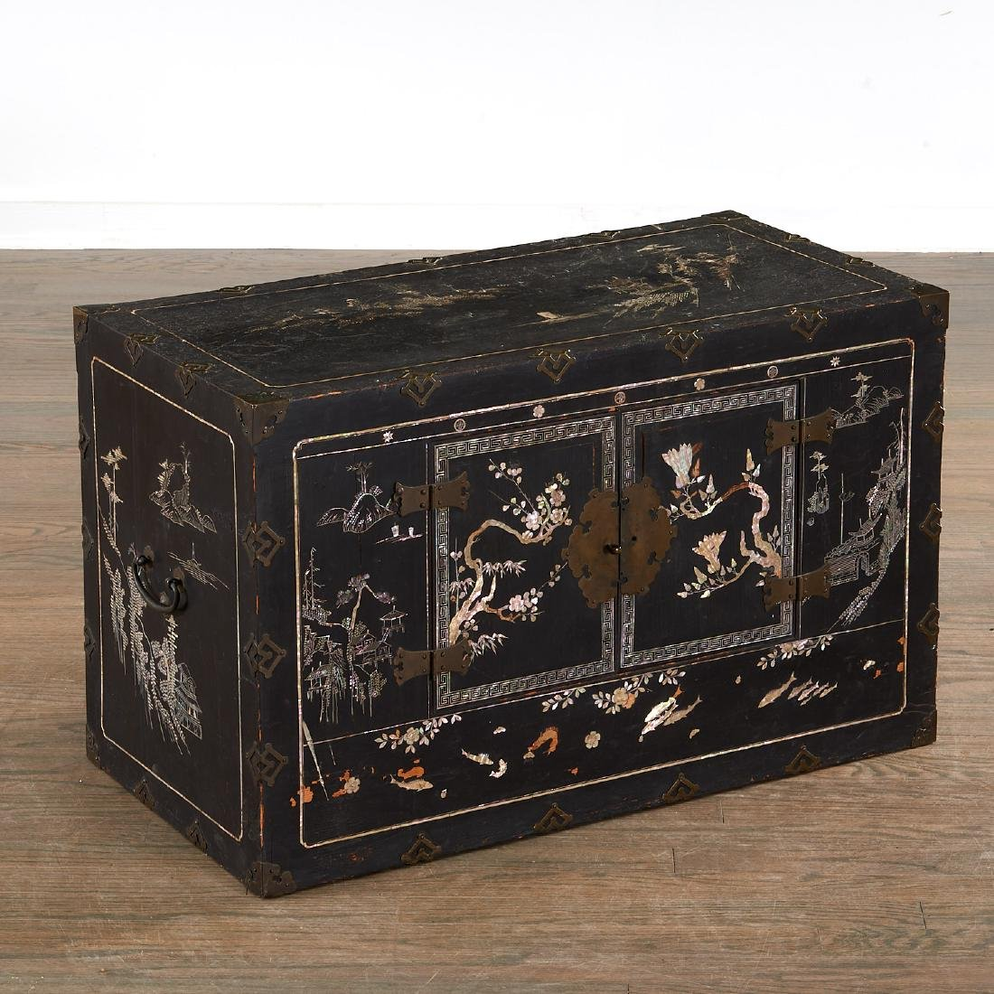 Chinese/Korean mother of pearl inlaid chest