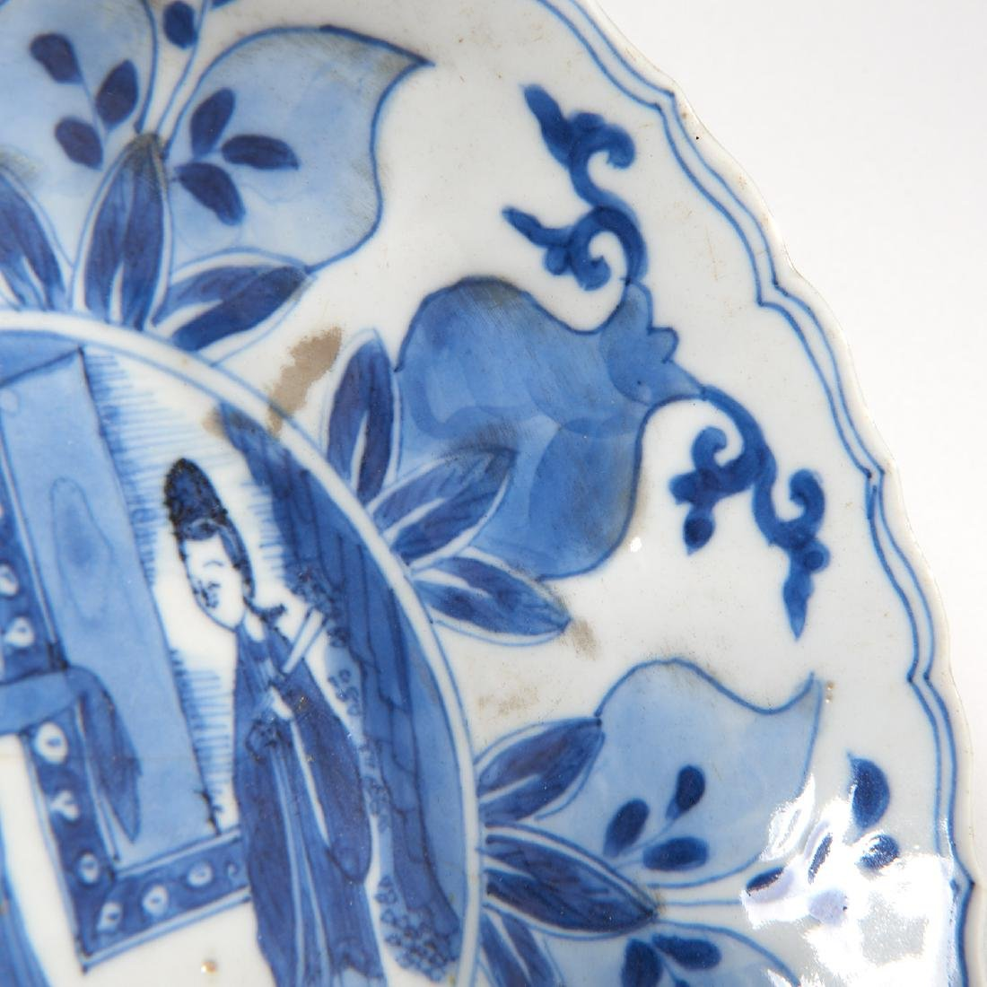Old Chinese blue and white kraak-ware dish - 5