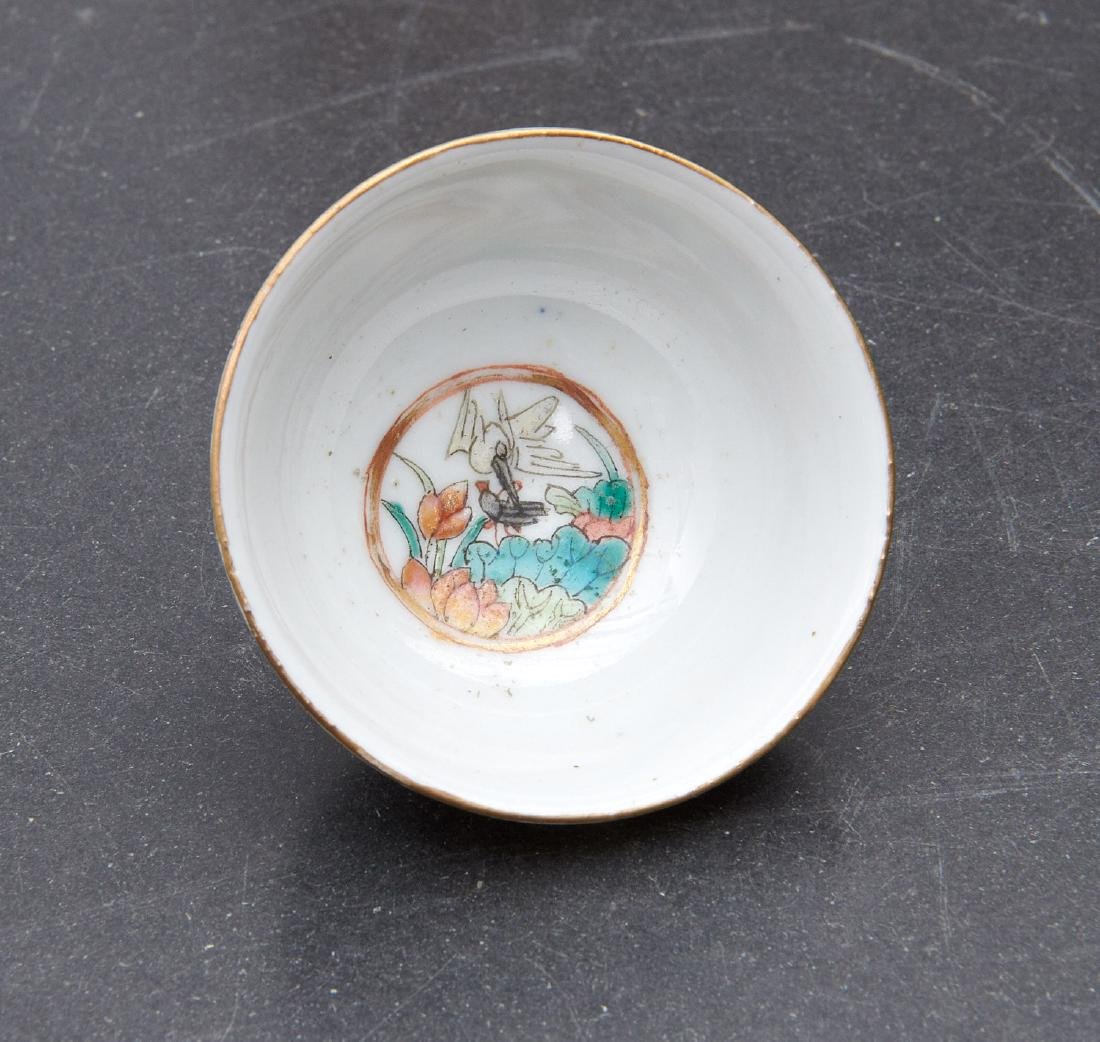 Pair old Chinese dragon and phoenix cups - 2