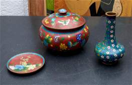 (3) Chinese cloisonne tablewares