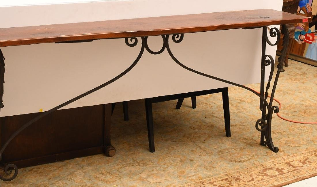 Spanish style console table
