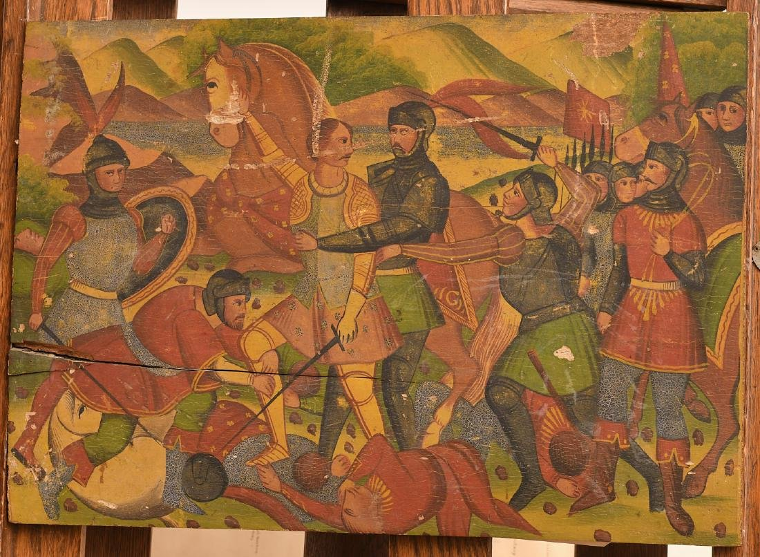 Continental School, medieval battle painting