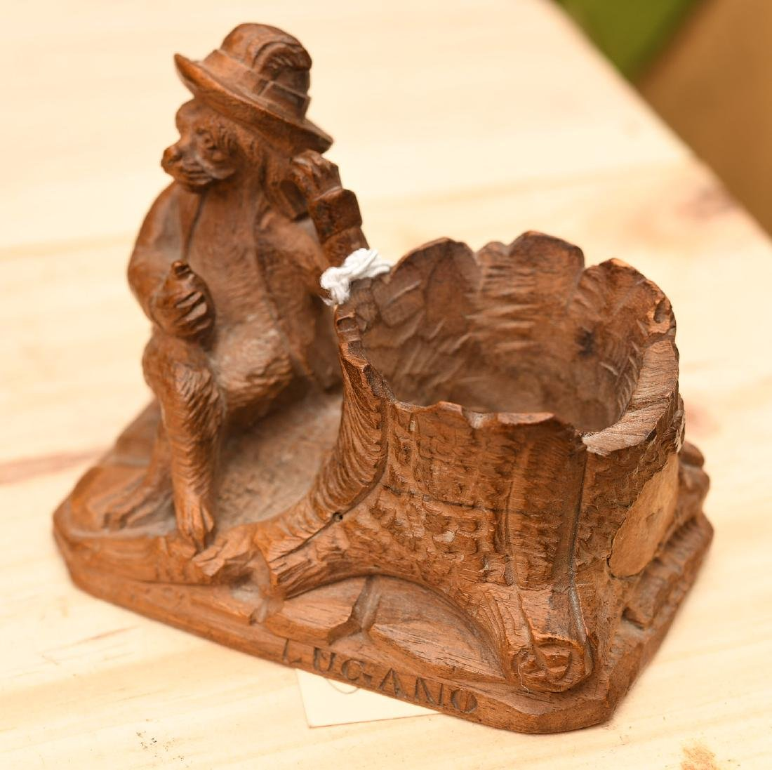 Vintage carved wood figural group - 2