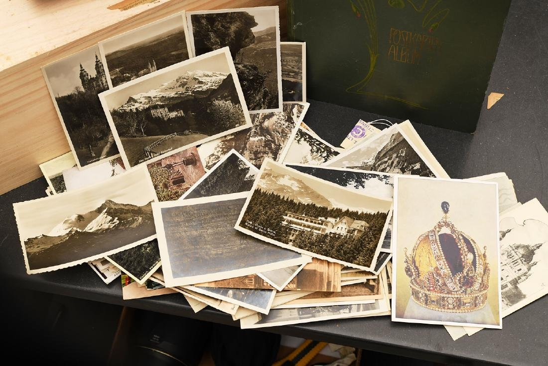 Huge collection 800+ antique postcards