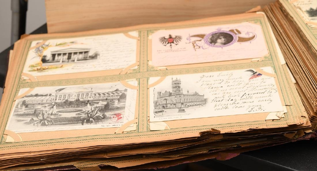 Huge collection 800+ antique postcards - 9