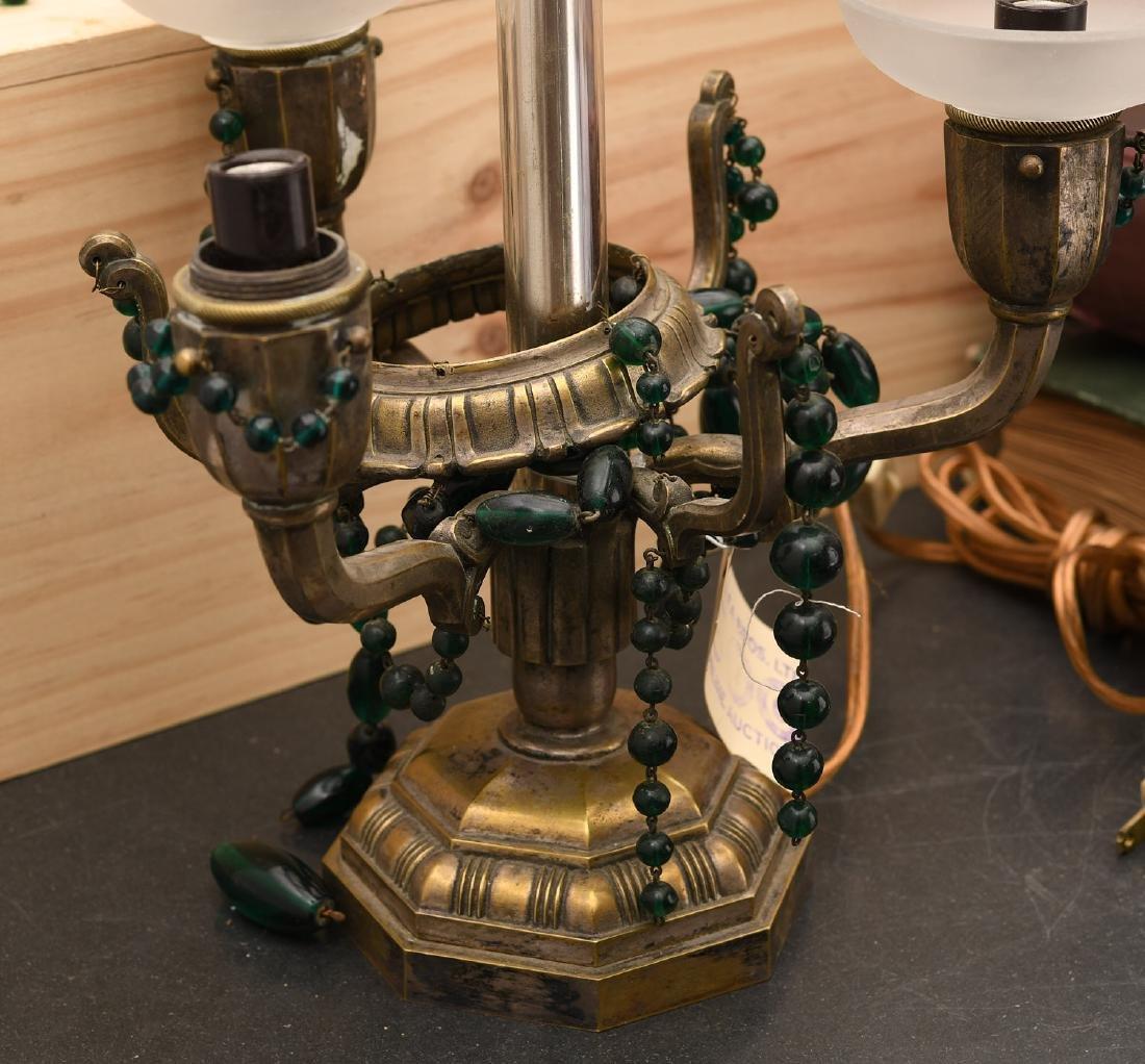 M. Paignant Art Deco candelabrum lamp - 4