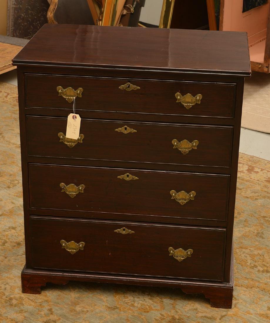 Antique English mahogany bachelor's chest