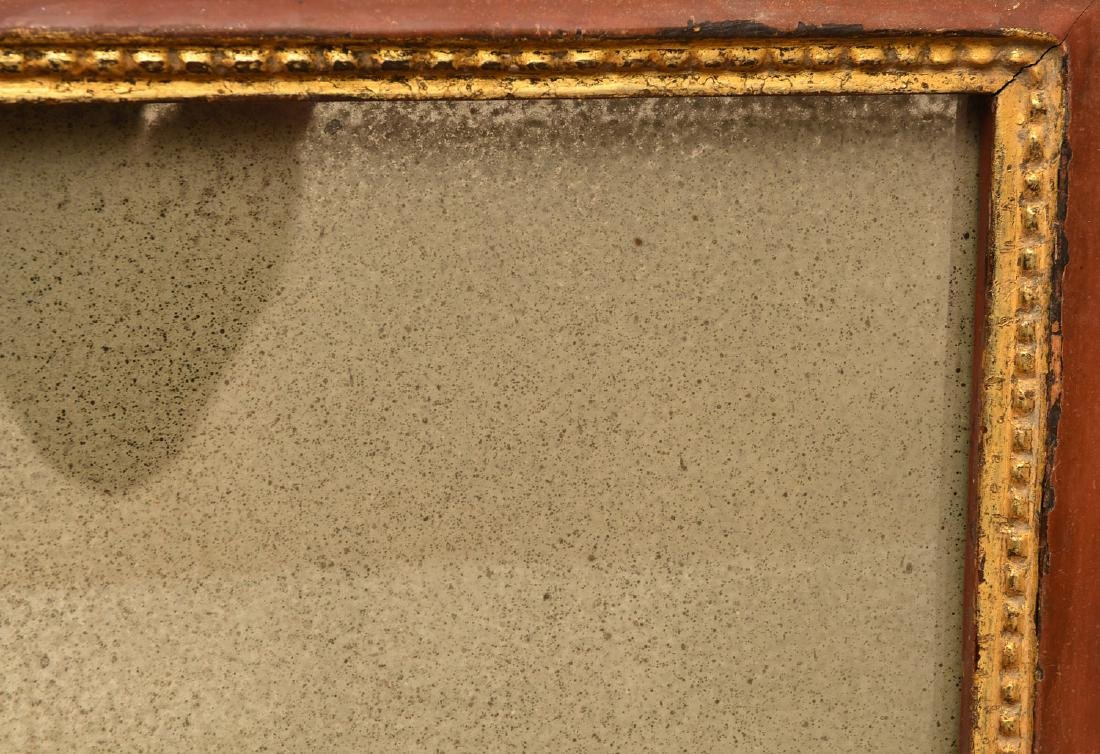 (2) red painted and gilt wall mirrors - 4