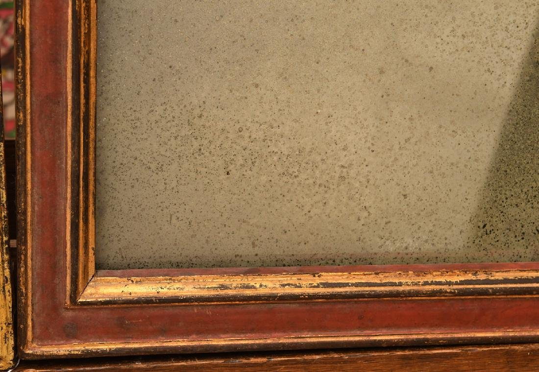 (2) red painted and gilt wall mirrors - 6