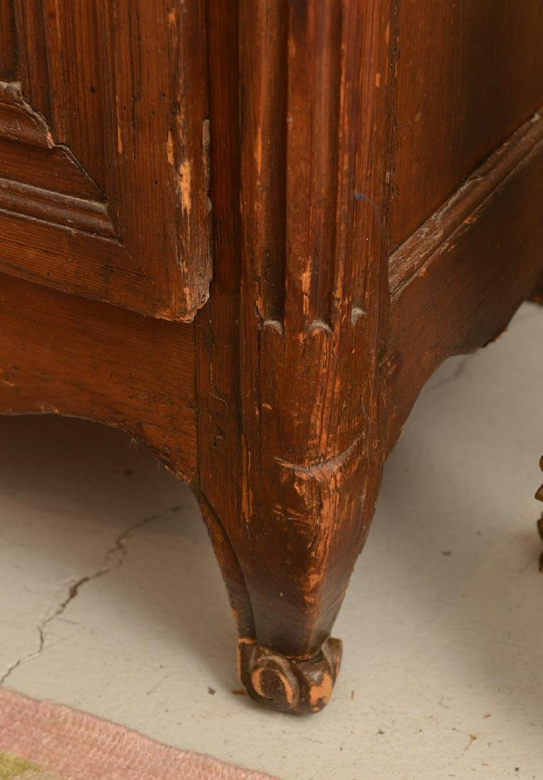 Country French style carved oak armoire - 3