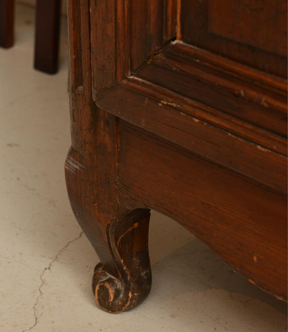 Country French style carved oak armoire - 4