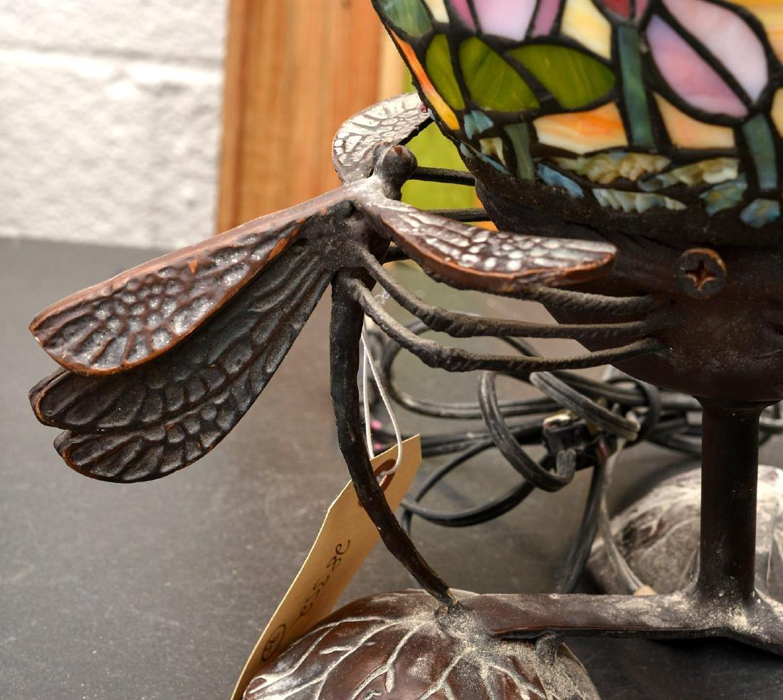 Art Nouveau style dragonfly lamp - 3