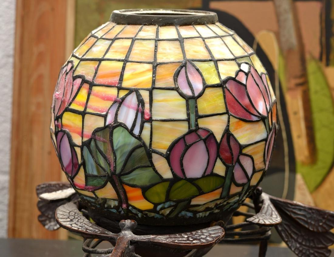 Art Nouveau style dragonfly lamp - 5