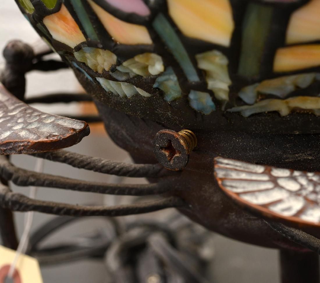 Art Nouveau style dragonfly lamp - 7