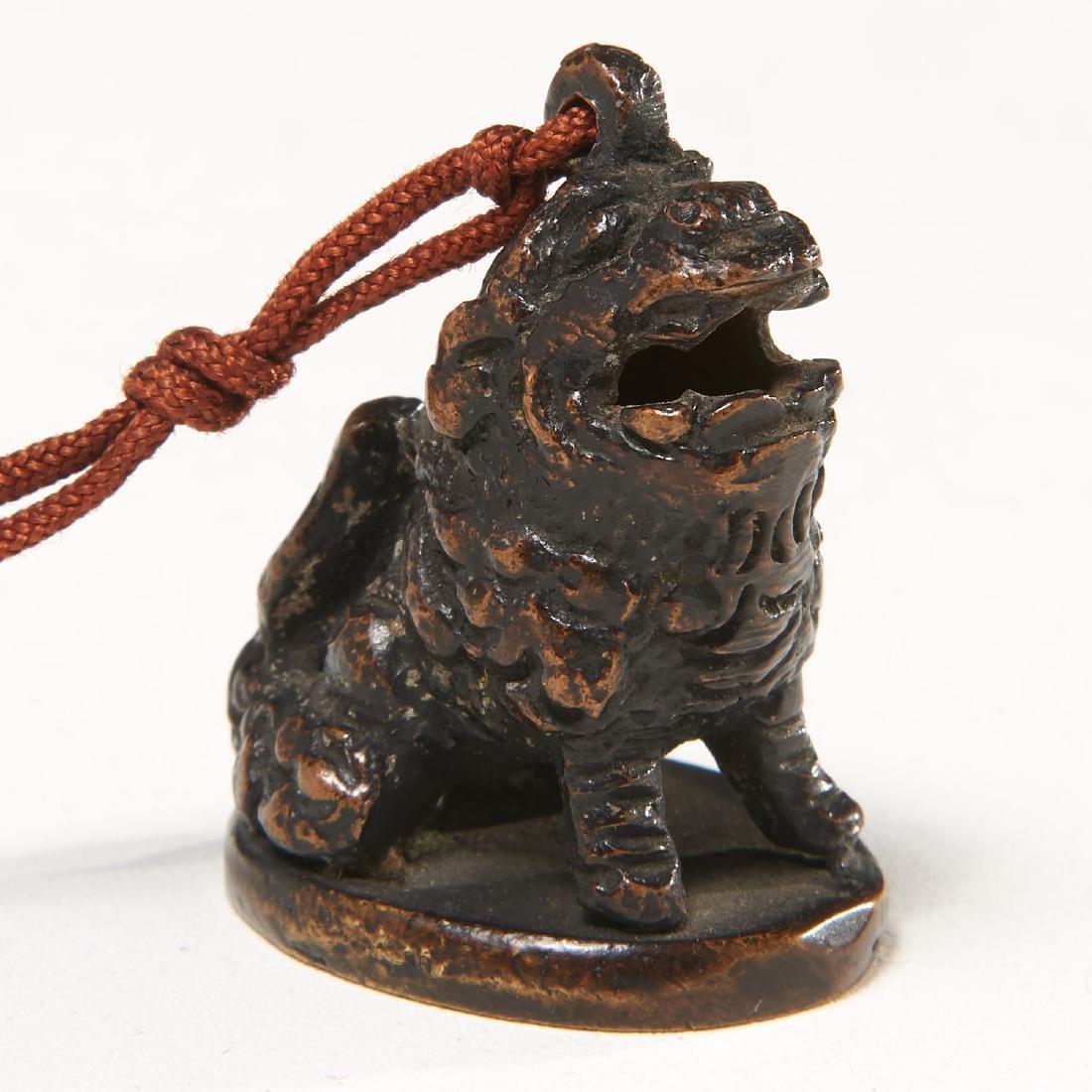 Chinese bronze Buddhist lion seal - 3