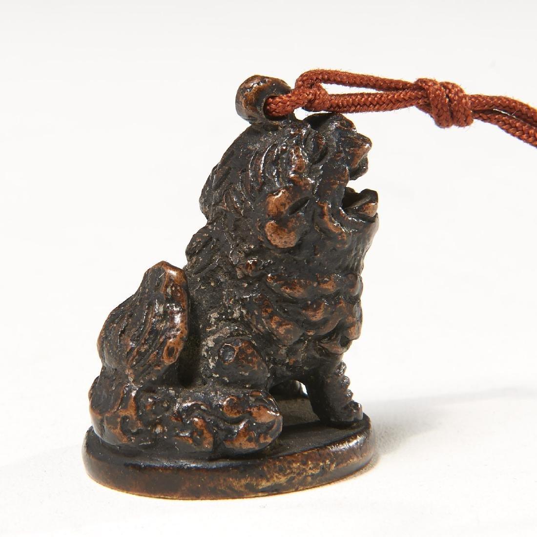 Chinese bronze Buddhist lion seal - 5