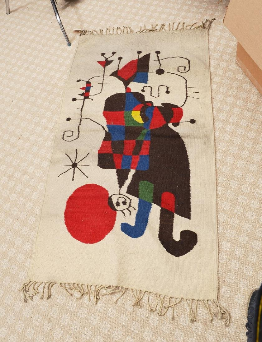 After Joan Miro wool tapestry