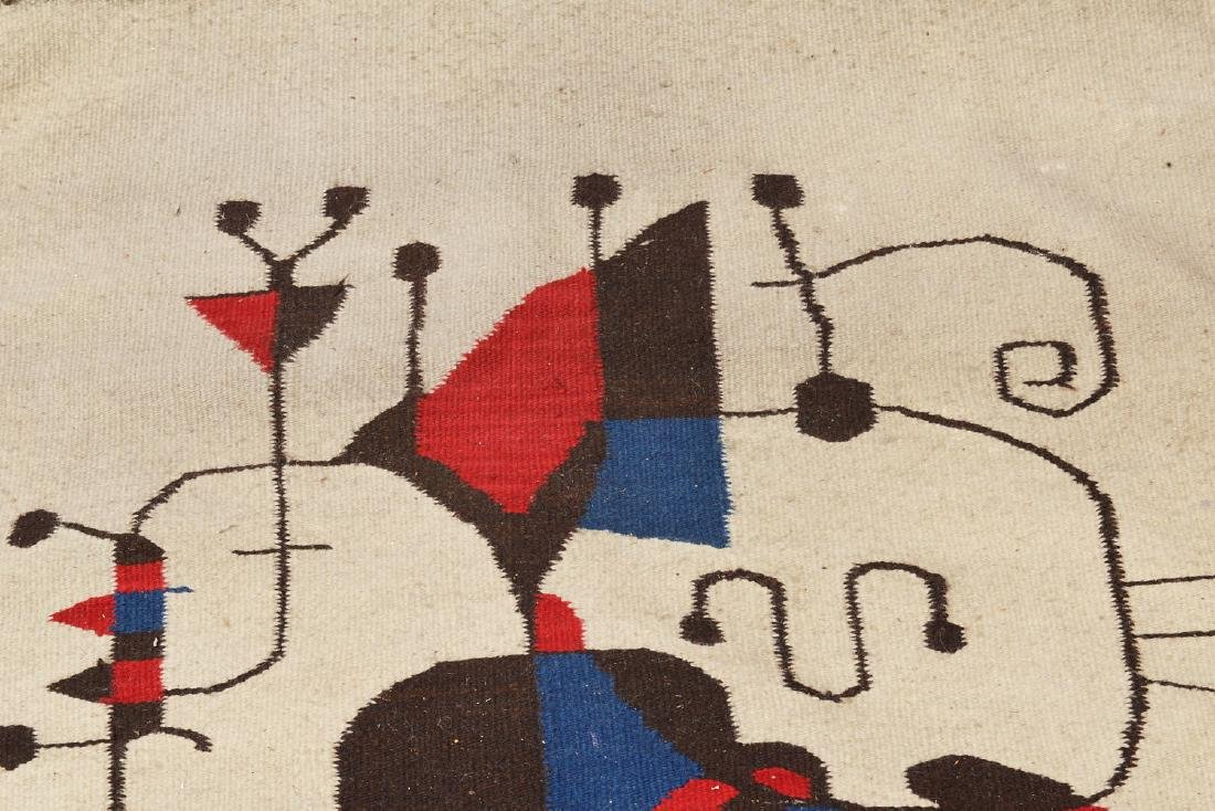After Joan Miro wool tapestry - 2