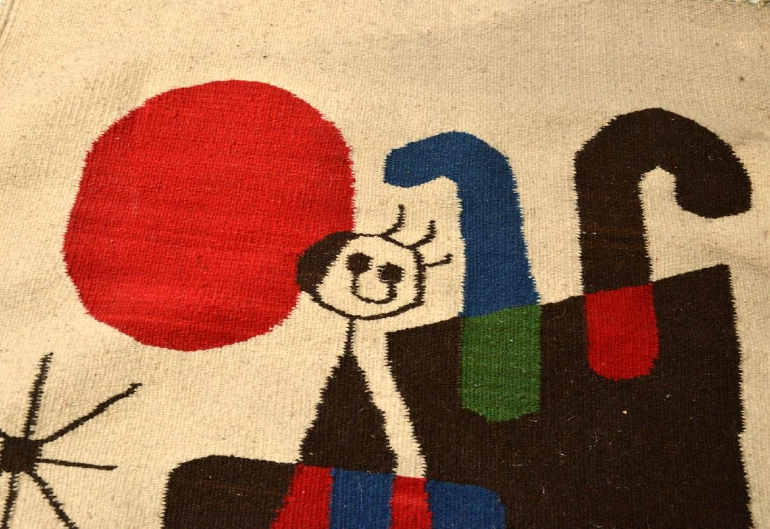 After Joan Miro wool tapestry - 5