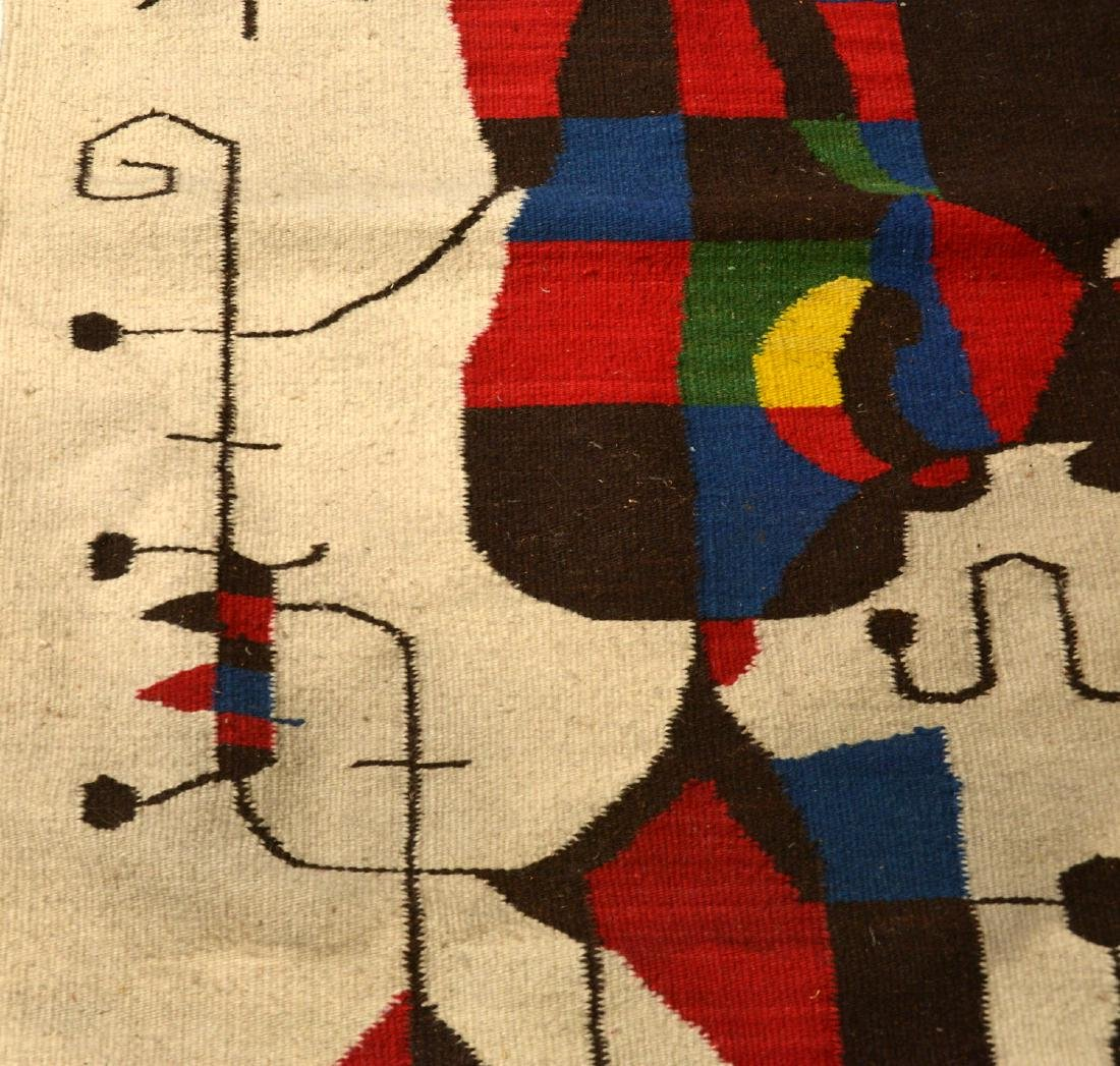 After Joan Miro wool tapestry - 6