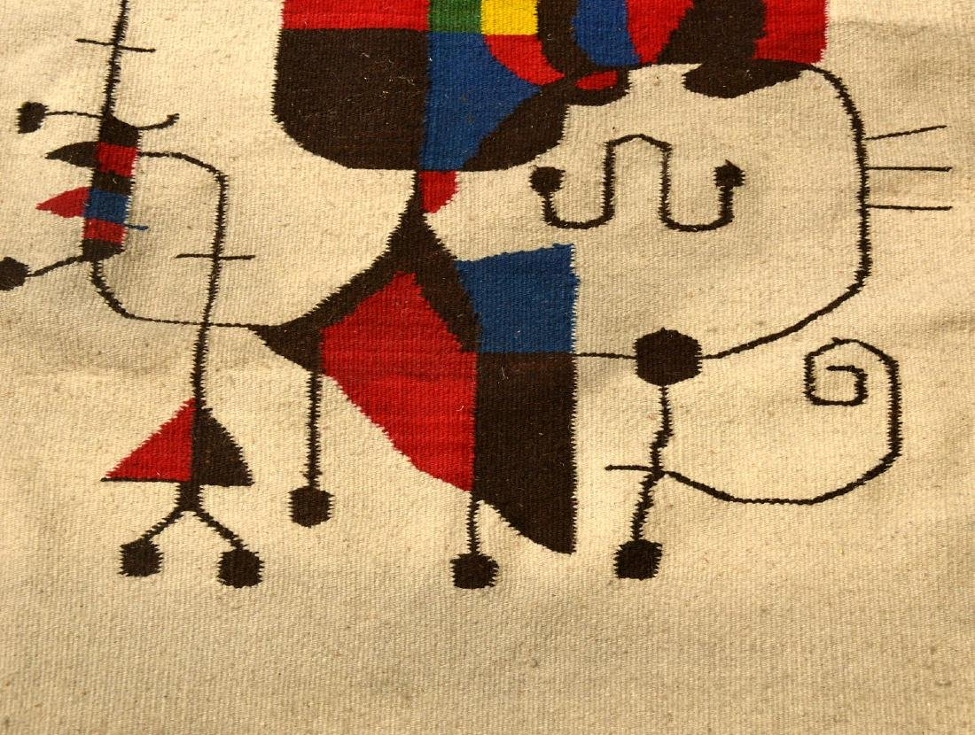 After Joan Miro wool tapestry - 7