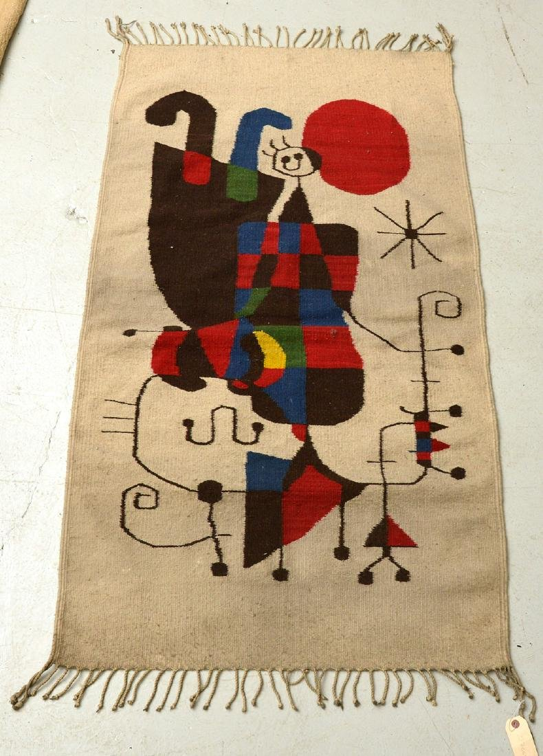 After Joan Miro wool tapestry - 9