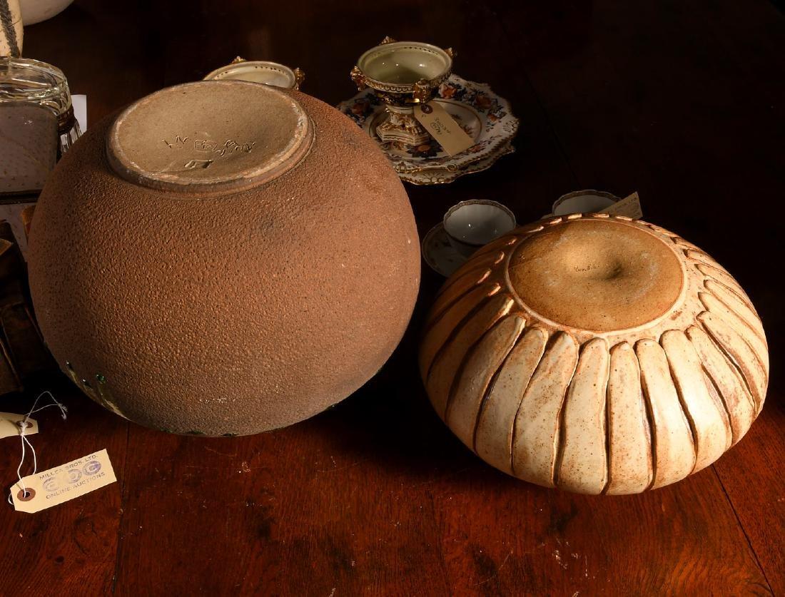 (2) nice Studio pottery vessels - 5