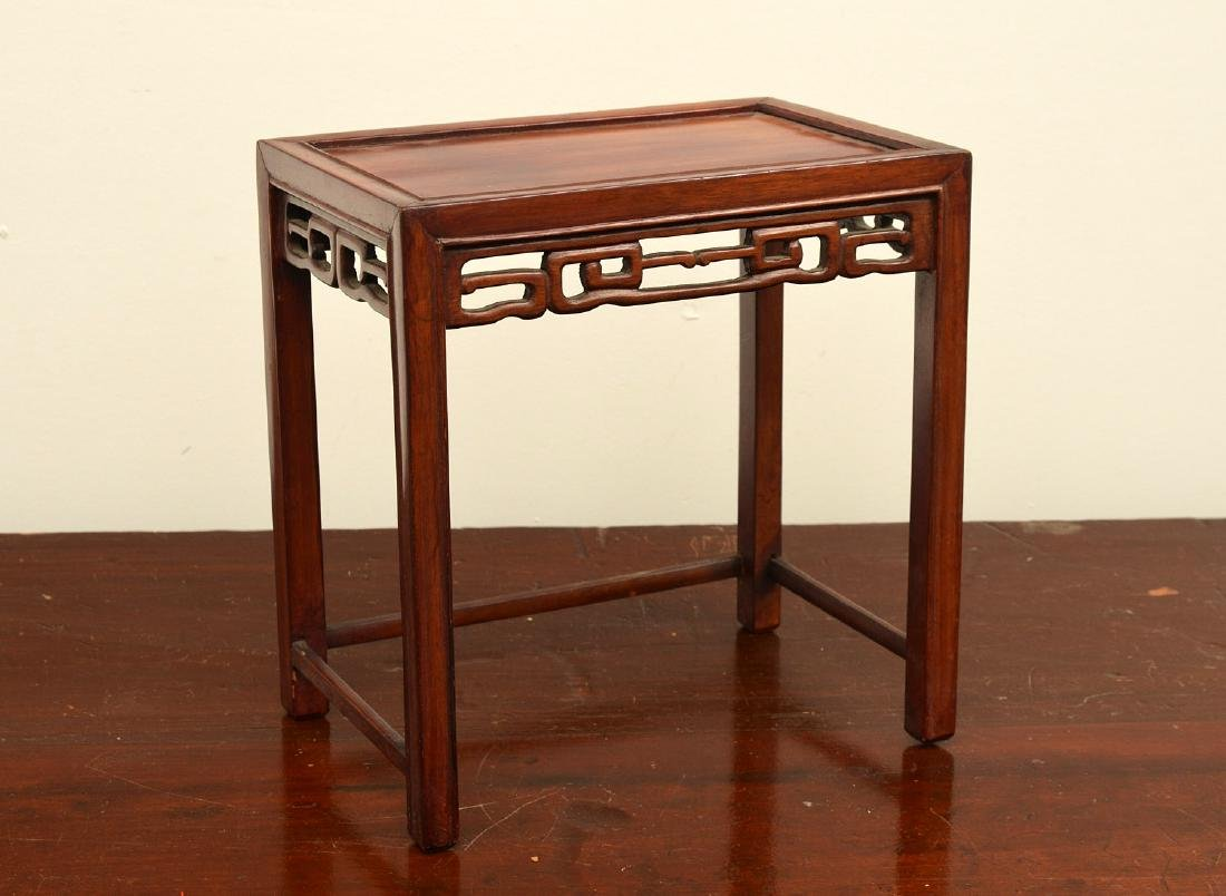 Chinese carved hardwood tabletop stand
