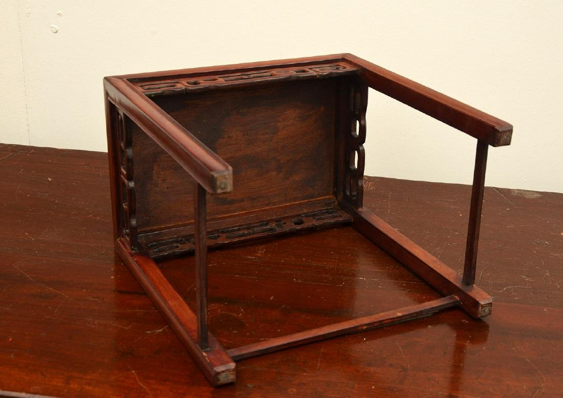 Chinese carved hardwood tabletop stand - 6