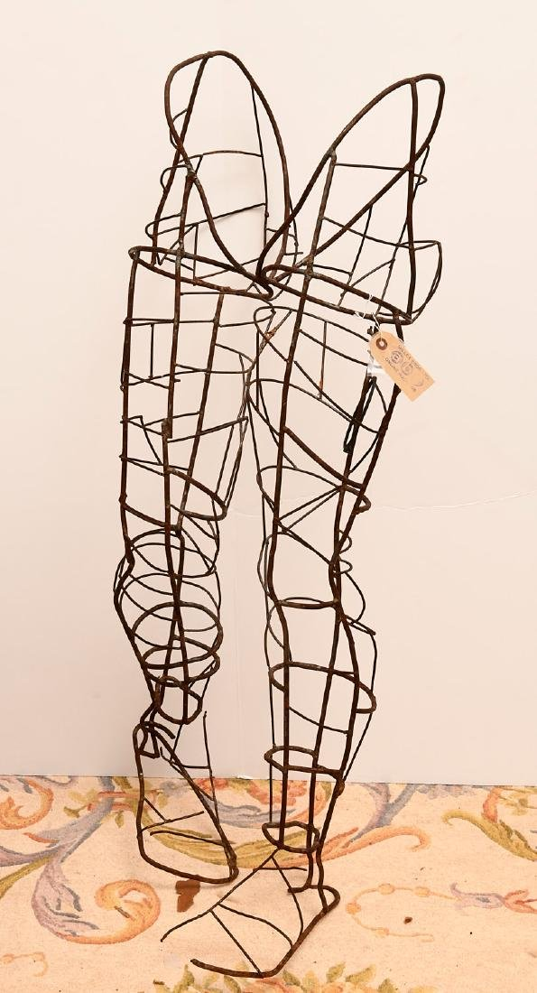 Dada style wirework figural topiary frame